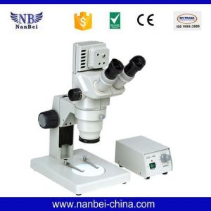 Gl6445b Digital with Stand Zoom Stereo Microscope pictures & photos