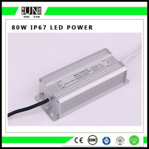 80W Constant Voltage IP65 IP67 12V/24V Waterproof LED Power Supply pictures & photos