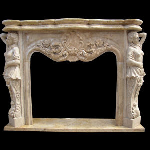 Statue Carving Fireplace pictures & photos