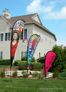 Cusotm Outdoor Dye Sublimation Teardroop Beach Banner Flags For Advertising pictures & photos