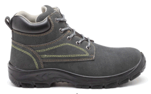 Work Safety Shoes (A CLASS LEATHER+PU SOLE) . Green Stock pictures & photos