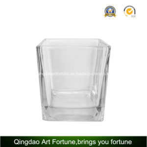 Square Cube Glass Candle Holder for Home Holiday Decoration pictures & photos