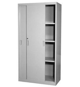 Office Storage Full Height Metal Sliding Door Cupboard pictures & photos
