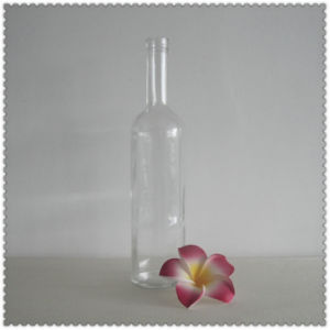 Popular 750mlvodka Glass Botle with Cork pictures & photos