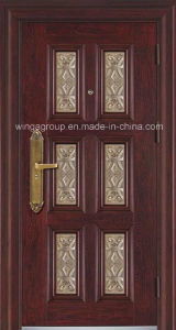 Hot Selling Home Use Entrance Security Steel Door (W-S-07) pictures & photos
