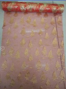 Gold Atamping Fabric Gift Wrapping Fabric pictures & photos