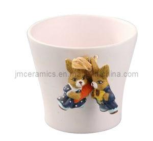 Enamel Porcelain V Shape Mug pictures & photos