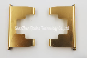 Precision Customized Laser Cutting and Bending Parts with Golden Anodizine pictures & photos
