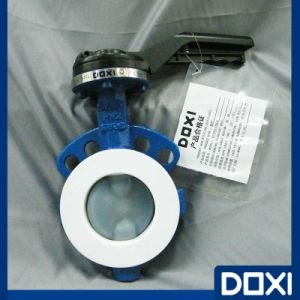 Anticorrosive Wafer Type PFA Lined Butterfly Valve Chemical pictures & photos