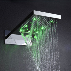 Three Function LED Light Rainfall Waterfall Overhead Shower