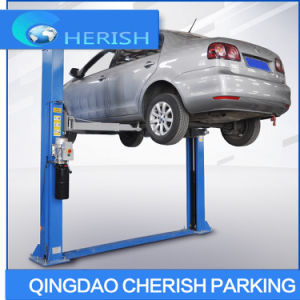 Two Post Practical Floor Plate Hydraulic Car Lift pictures & photos