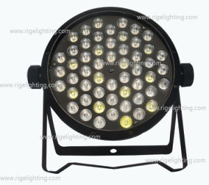 Cheap 54X1w RGBW Flat Slim Plastic Stage LED PAR 64 Light pictures & photos