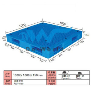 Solid Double Face Heavy Duty HDPE Pallet pictures & photos