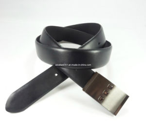 Formal Man Leather Belt with Plain Buckle (EUBL0090-35)