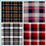 Cotton Printed Check Grid or Strips Flannel Fabric for Shirts