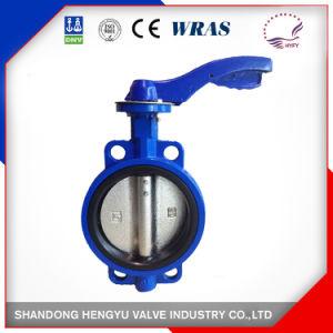 Wafer Type Butterfly Valve with Single Shaft Design pictures & photos