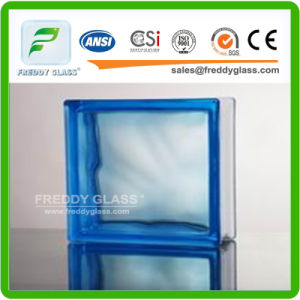 190*190*80mm Blue Cloudy Glass Block/Glass Brick pictures & photos
