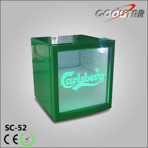 Energy Drink Showcase, Glass Door Mini Bar Fridge (SC-52) pictures & photos