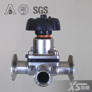 Stainless Steel Sanitary Tee Diaphragm Valve pictures & photos