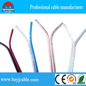 1.5mm2 Transparent Speaker Cable, Red and Black Parallel Cable, Flexible Electrical Wire pictures & photos
