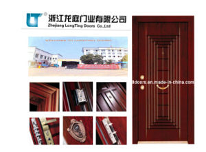 Popular Turkish Style Steel Wooden Armored Door pictures & photos