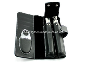 Cigar Tube Gift Set Kit with Flask and Cigar Cutter pictures & photos