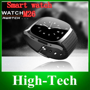 Free Shipping2014 New Smart Watch M26 Bluetooth Watch Samsung Smart Mobile Phone Synchronization Music Watch SMS Wristwatch