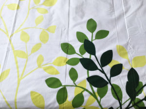 90% Cotton Hand Lift Printing Plate Green Bedding Set pictures & photos