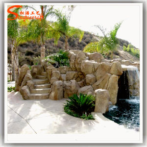 Garden Water Fountain Ornamental Stone Rockery for Garden pictures & photos