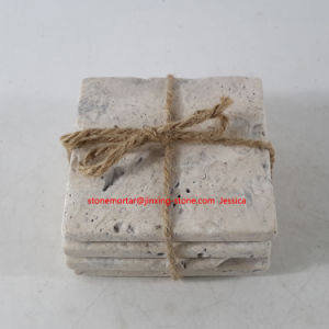 Square Beige Stone Drink Coaster Set of 4 pictures & photos
