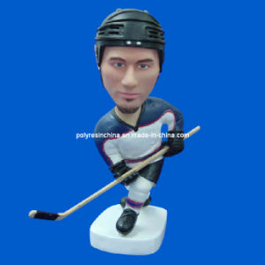 Resin OEM Sport Ice Hockey Talking Bobble Head pictures & photos