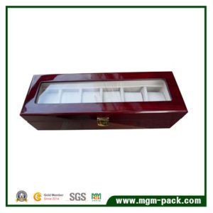 High Gloss Wooden Wrist Watch Case with Glass Lid pictures & photos