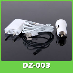8 Pin Universal USB Cable Travel Charger Kits for iPhone 5 with EU Plug (DZ-003)