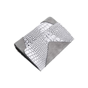 Grey Alligator Grain Women Short Wallet (MBNO041122) pictures & photos