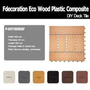 Garden Decorative WPC DIY Decking Tiles Wood Plastic Composite Flooring