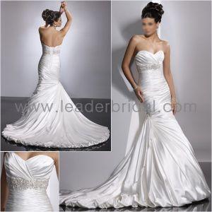Mermaid Long Sleeve Bridal Dress Sash Choker Bridal Gown Mg001 pictures & photos