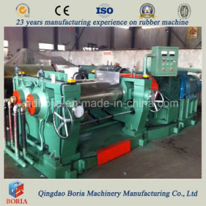 Two Roll Rubber Sheet Mixing Machine with Stock Blender pictures & photos