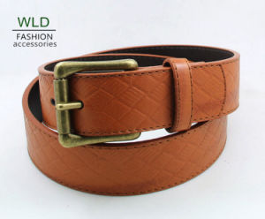 Classic Style Fashion PU Flat Belt Ky5910 pictures & photos