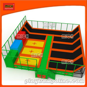 Mich Unique Design Outdoor Children Trampoline Park with Basketball Hoop pictures & photos