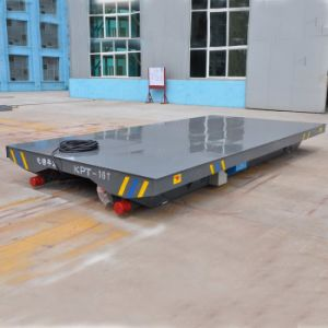 PLC Controlled Rail Motorized Transfer Trolley with Box Structure pictures & photos