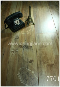 Flower and Letter Printed Laminate Flooring 7701 pictures & photos