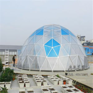 New Developed Glass Prefab House Container, Steel Structure Domehouse pictures & photos