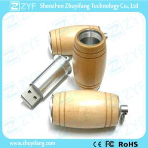 High Quality Beer Barrel Shape Maple Wood USB Stick (ZYF1325)