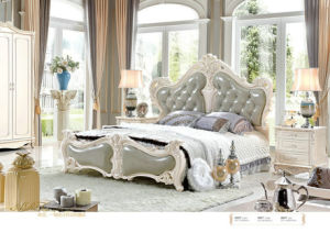 French Style Europe Bed Frame for Home Furniture (6008) pictures & photos