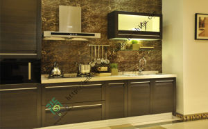 China Supply 25 Thickness Lacquer Kitchen Cabinet pictures & photos