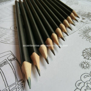 Hb Triangle and Black Barrel Student Pencil pictures & photos