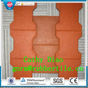 Supply Outdoor Rubber Tile, Playground Rubber Tiles, Square Rubber Tile Recycle Rubber Tile Dog Bone Rubber Tiles pictures & photos