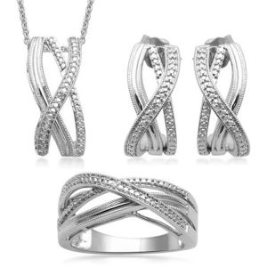 Fashion 925 Sterling Silver Jewelry Set Micro Pave Setting pictures & photos
