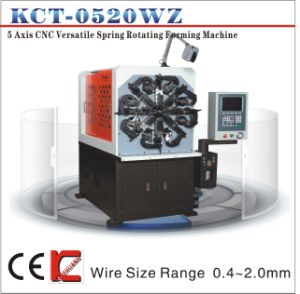 Kct-0520wz 5 Axis 0.3-2.5mm CNC Versatile Spring Rotating Forming Machine&Torsion/Extension Spring Spring Making Machine pictures & photos