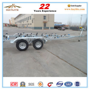 China Heavy Duty Dual Axle Galvanized Boat Trailer pictures & photos